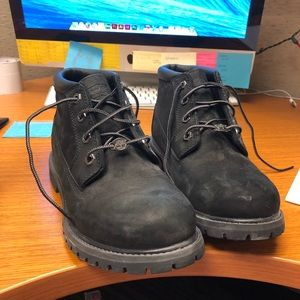 BLACK SIZE 8.5 TIMBERLAND BOOTS